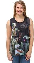 Star Wars Force Awakens Droids Trio Juniors Tank Top