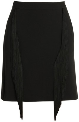 Stella McCartney Cady Fringe Stretch Pencil Skirt