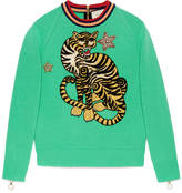 Gucci Tiger embroidered knit top