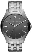 Armani Exchange Gunmetal IP Stainless Steel Link Bracelet Watch