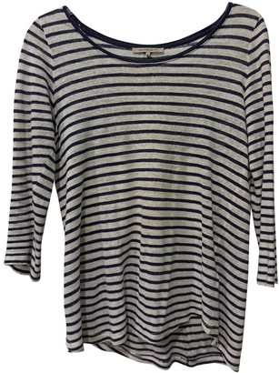 Gerard Darel Blue Linen Top for Women