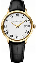 Raymond Weil Mens Toccata Goldtone and Leather Watch