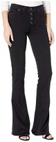 Paige High-Rise Lou Lou w/ Exposed Buttonfly Jeans in Black Sundown (Black Sundown) Women's Jeans