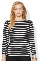 Lauren Ralph Lauren Plus Size Long-Sleeve Striped Top