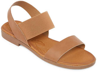 POP Womens Series Slingback Strap Flat Sandals