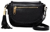 Milly Astor Whipstitch Leather Small Saddle Crossbody Bag