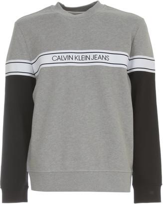 Calvin Klein Jeans Logo Tape Crew Neck Sweater