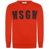 MSGM MSGMBoys Red Logo Sweater