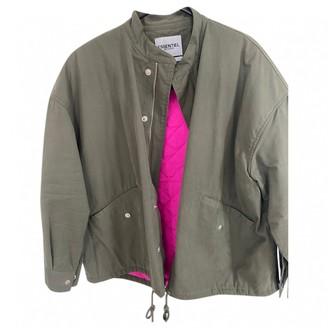 Essentiel Antwerp Green Cotton Jacket for Women