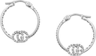 Gucci GG Running earrings with diamonds