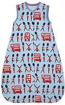John Lewis London Travel Sleep Bag, 2.5 Tog, Blue