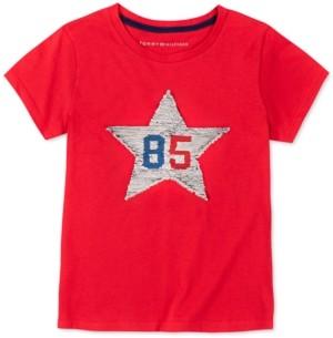 Tommy Hilfiger Little Girls Flip Sequin Star T-Shirt