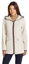Jones New York Women's Split Diamond Quilt Jacket