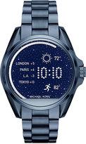 Michael Kors Access Unisex Digital Bradshaw Blue Ion-Plated Stainless Steel Bracelet Smart Watch 45mm MKT5006