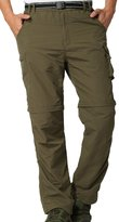 Alafen Unisex Outdoor Lightweight Breathable Hiking Convertible Pant L Army Green