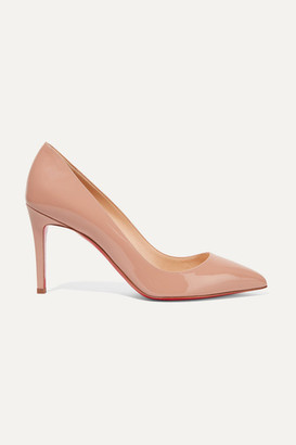 Christian Louboutin Pigalle 85 Patent-leather Pumps - Beige