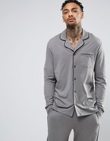 Asos Pajama Top With Black Piping