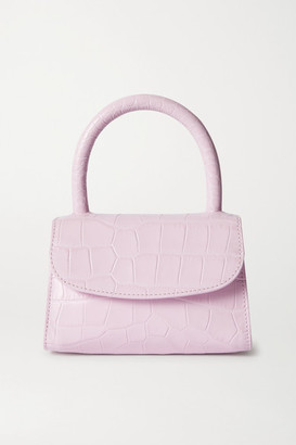 BY FAR Mini Croc-effect Leather Tote - Pink