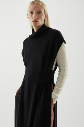 Cos Wool Mix Roll-Neck Sleeveless Tunic