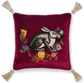 Gucci Velvet cushion with rabbit embroidery