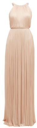 Maria Lucia Hohan Jayla Silk-tulle Crystal-embellished Maxi Dress - Light Pink