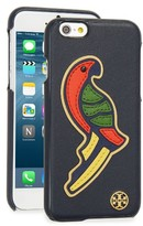 Tory Burch Diego Parrot Leather Iphone 6/6S Case - Blue