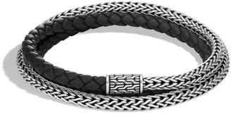 John Hardy Classic Chain Silver Triple Wrap Extra Small Bracelet