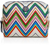 Tory Burch Brigitte Large Printed Nylon Cosmetic Case
