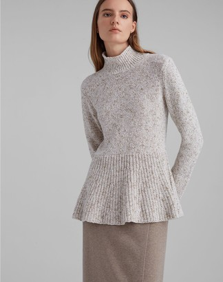 Club Monaco Mockneck Peplum Sweater