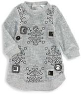 Little Marc Jacobs Cabochon Velvet Dress (Baby Girls)