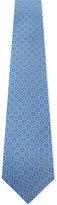 Salvatore Ferragamo Blue Round Luxurious London Nderground & Taxi Print Silk Tie