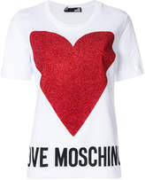 Love Moschino heart and logo print T-shirt