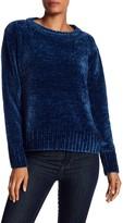 Blanc Noir Crew Neck Chenille Sweater