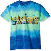 Liquid Blue Men's Simpsons the Cast Tie Dye Short Sleeve T-Shirt