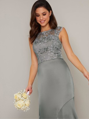 Chi Chi London Abbilee Dress - Sage