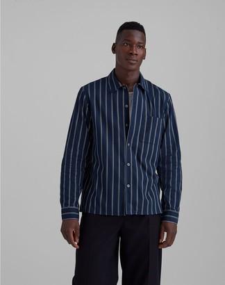 Club Monaco Standard Fit Mini Striped Shirt