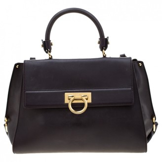 Salvatore Ferragamo Sofia Black Leather Handbags