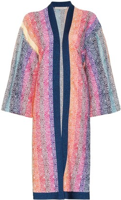 Mary Katrantzou Sola rainbow stripe knit cardigan