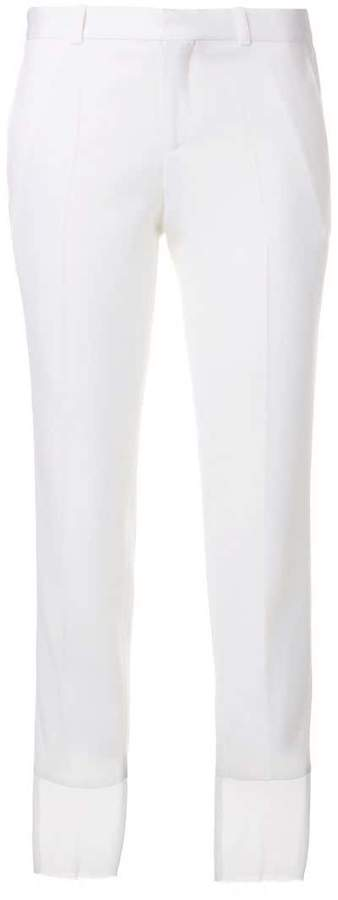 Each X Other sheer cuff slim-fit trousers