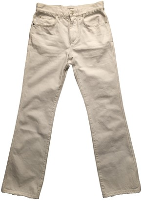 Givenchy White Cotton Jeans