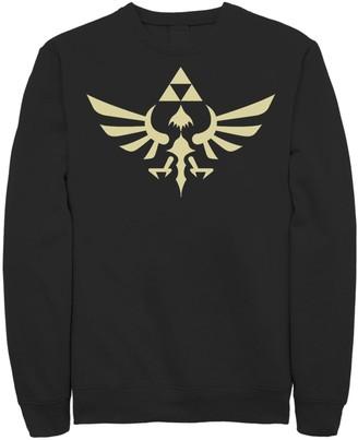 Nintendo Men's Legend Of Zelda Royal Crest Sweatshirt