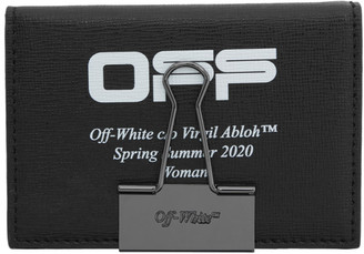 Off-White Off White Black and White Logo Bifold Card Holder