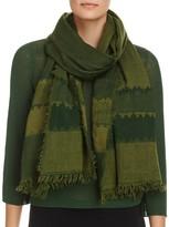 Eileen Fisher Stripe Wool Scarf