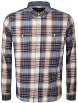 Edwin Tripple Check Shirt Blue
