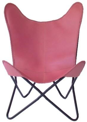 Nubuck Butterfly Chair Marshmallow Pink