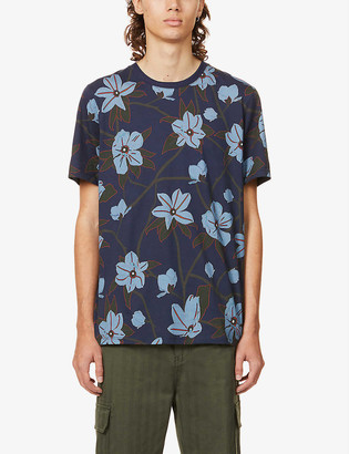 Ted Baker Floral-print cotton-jersey T-shirt