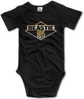 BFDGWEW Kids Baby Beastie Boys Band Gold Logo Romper Jumpsuit