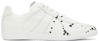 Maison Margiela Off-White and Black Pollock Replica Sneakers