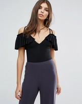 Love Cold Shoulder Body With Frill Sleeves