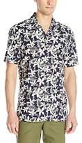 Barney Cools Men's Miami Short Sleeve Button Down Floral Print Shirt